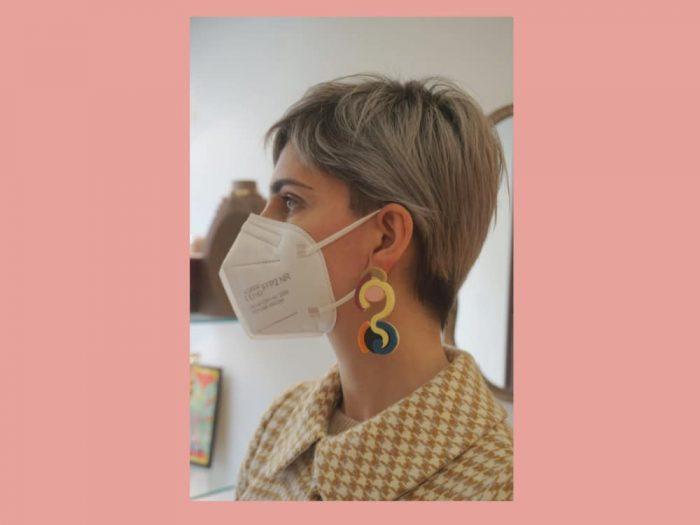 plexi shock design earrings