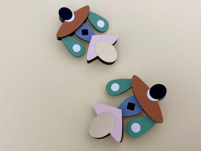 mobile perspex earrings