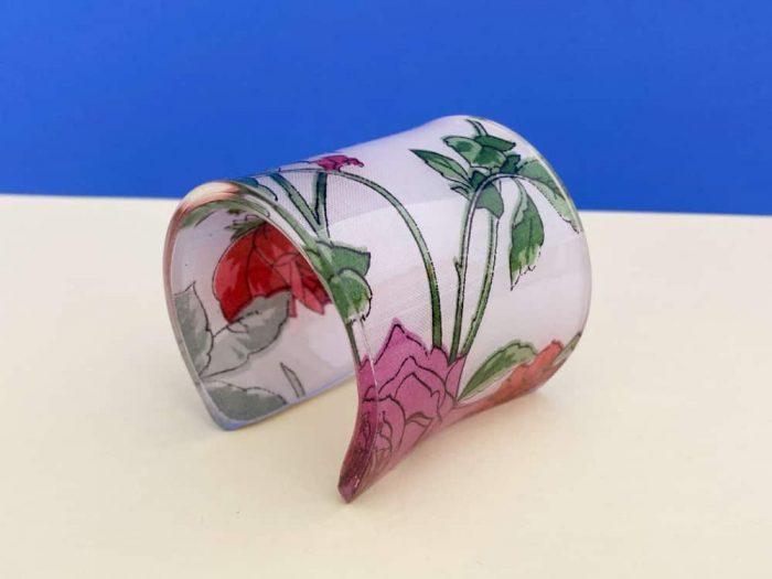 rose acrylic bracelet by plexi shock