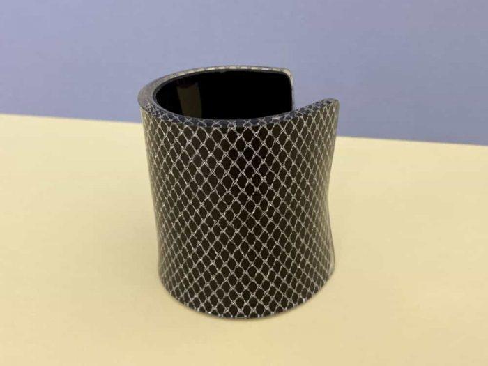 black silver plexiglass bracelet