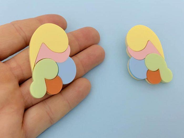 design jewel earrings