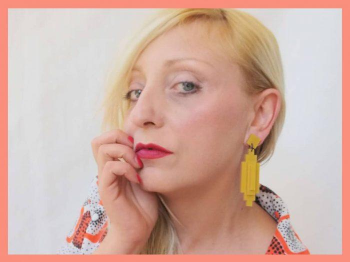 gold monochrome earrings