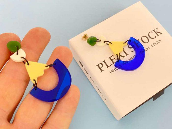 acrylic pendant earrings