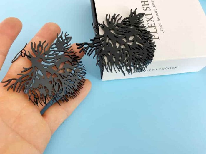 aquatic coral earrings