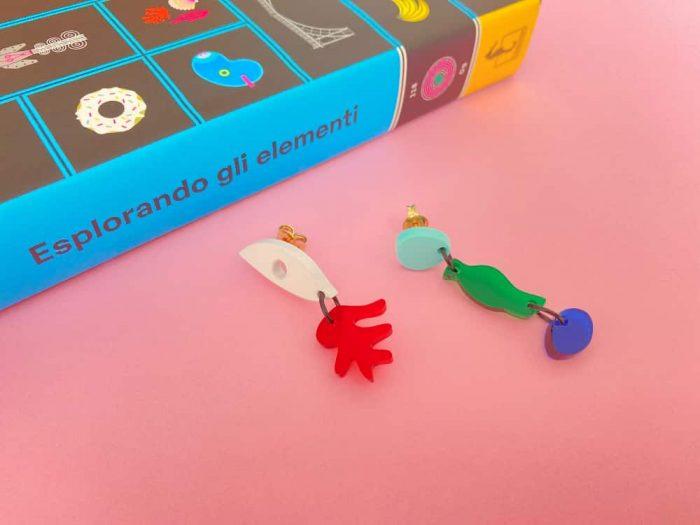 plastic dangle perspex earrings