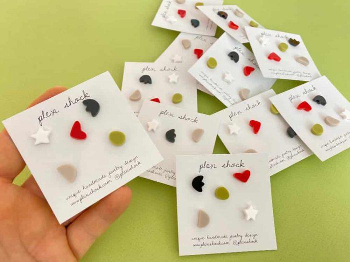 set of five earrings