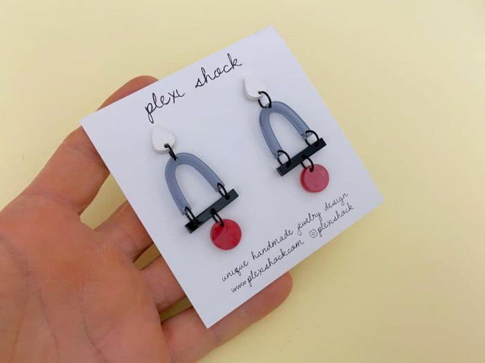 transparent black acrylic earrings